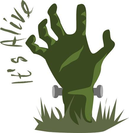 Use this monster hand for a spooky Halloween shirt for dad.