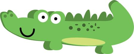This crocodile will look cute as a nursery decoration or soft ball for a toddler.