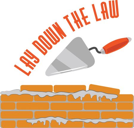 Use this brick laying wall will look good in a tool shop or on coveralls. Illusztráció