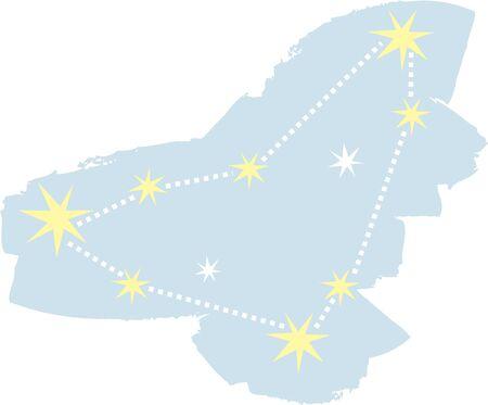 Use this Capricorn constellation for a superstitious friends bag. Ilustração