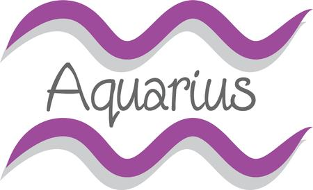 Use this Aquarius sign for a superstitious friends bag or strap.