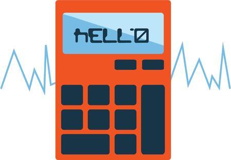 Gebruik deze calculator voor overhemd een wiskunde student. Stock Illustratie