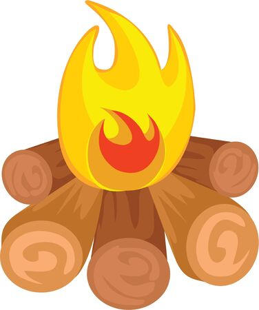 Use this campfire for an adventurous friends shirt. Illustration