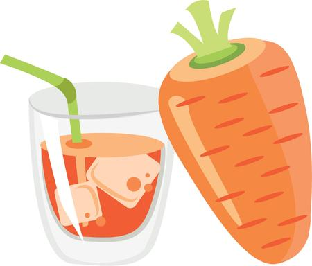 carrot juice: Use this delicious carrot juice for a juicing friends bag.