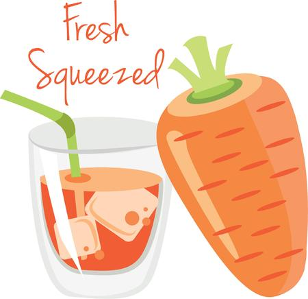 Use this delicious carrot juice for a juicing friends bag.