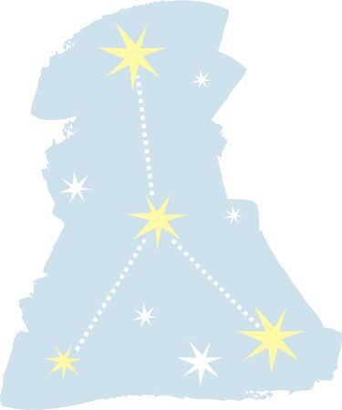Use this cancer constellation for a superstitious friends bag.