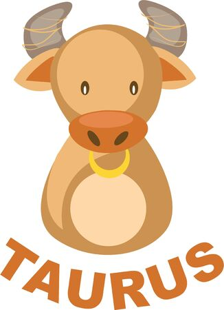 superstitious: Use this Taurus bull for a superstitious friends shirt.