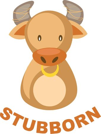 Use this Taurus bull for a superstitious friends shirt.