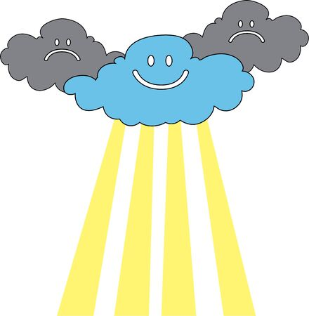 reusable: Use these clouds for an inspiring message on a shirt or reusable bag. Illustration