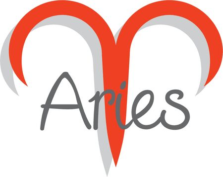 superstitious: Use this Aries design for a superstitious friends bag or shirt.