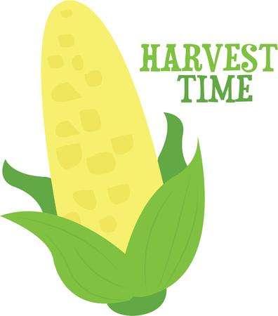 harvest time: Use this cob of corn for a vegetable lovers shirt.