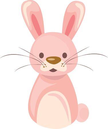 かわいい幼児シャツにこのウサギを使用します。