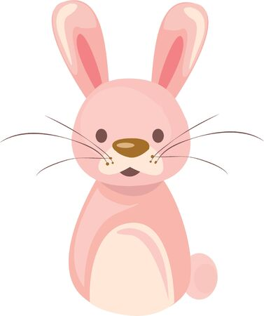 Use this bunny for a cute toddler shirt. Иллюстрация