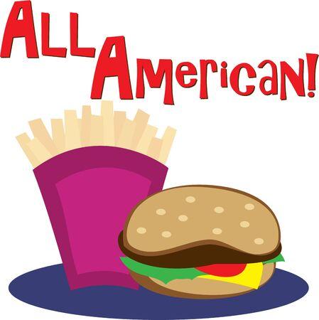 Usa questo disegno fast food per la camicia di un amico affamato. Archivio Fotografico - 42732417