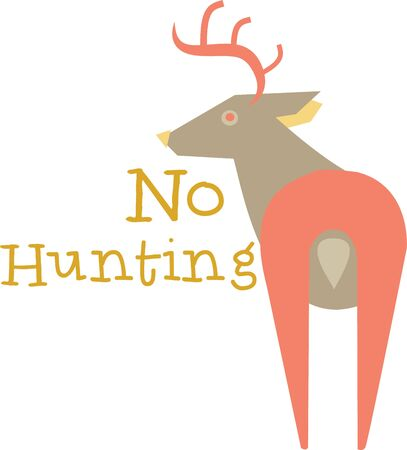 mamma: This deer will look nice on a shirt or denim jacket for a friend. Illustration