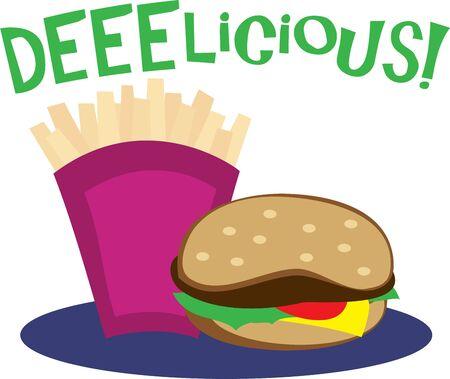Gebruik deze fast food ontwerp voor overhemd een hongerige vriend.