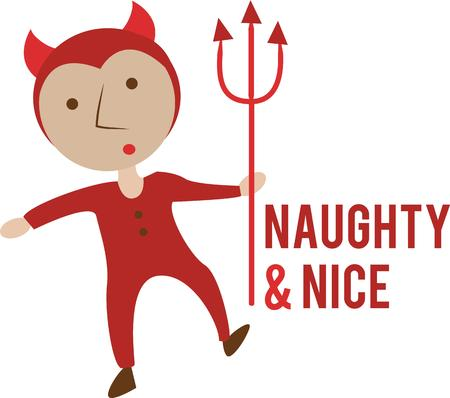 naughty or nice: Use this little devil for a Halloween baby.