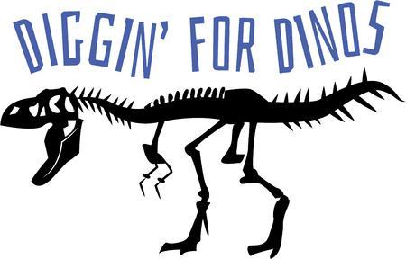 � fond: Tout amant de dinosaure pourrez profiter pleinement ce T-rex squelette sur une chemise ou un sac.