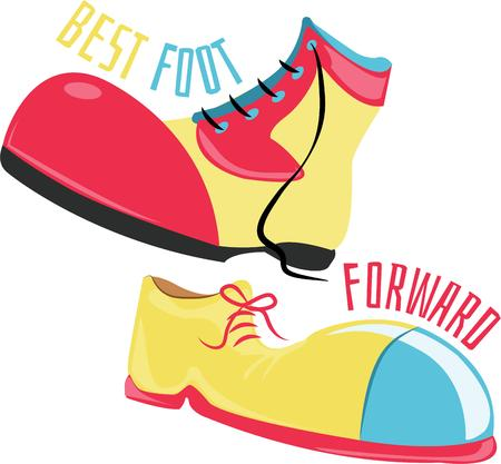 clown shoes: Use these shoes for a funny jokester shirt.