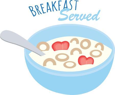 Utilisez ce bol de céréales pour le petit déjeuner serviettes. Banque d'images - 42753783