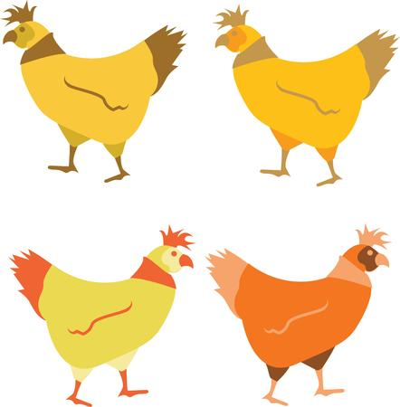 range: Use these hens for a free range farmer friend quilt.