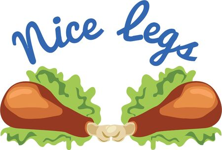 foodies: Use these chicken legs for a foodies apron.
