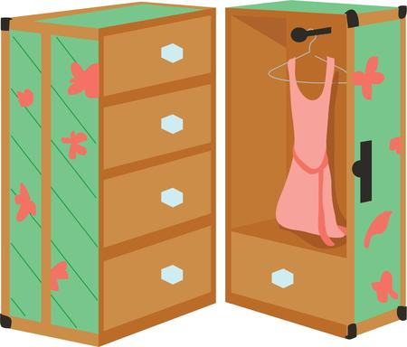 kleine meisjes: Gebruik deze kast voor kast deksel van een klein meisje.