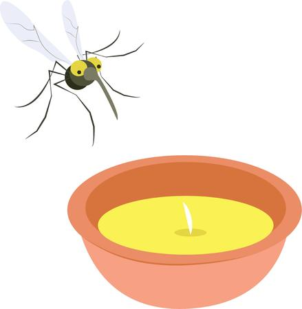 Use this citronella candle for a picnic napkin set.