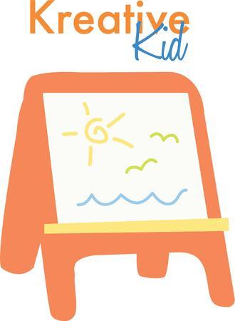Gebruik deze voorschoolse ezel voor een speciale kleine kunstenaar schilderen kiel.