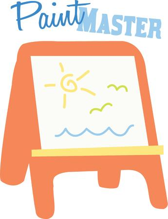 easel: Use this preschool easel for a special little artists painting smock.