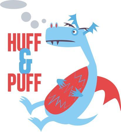 Use this dragon for a childs fantasy shirt. Ilustração