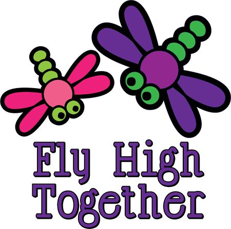 Use these cute dragonflies for a little girls headband.