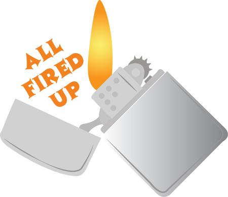 Utilizzare questo accendino per una camicia spiritoso. Archivio Fotografico - 43566109
