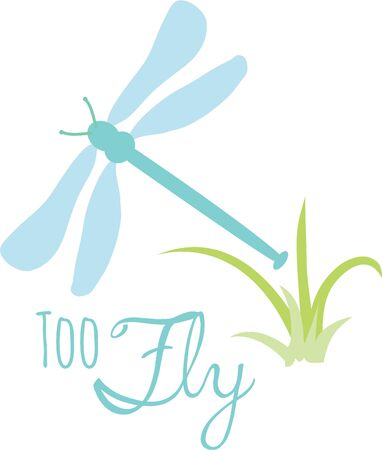 Use this dragonfly for a bathroom towel set. Ilustrace