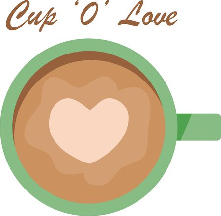 Use this heart coffee for a good morning shirt. Ilustração