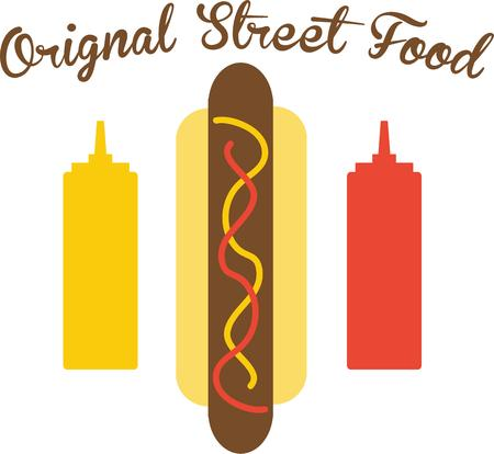 ballpark: Use this hot dog for a ballpark shirt for a baseball fan.