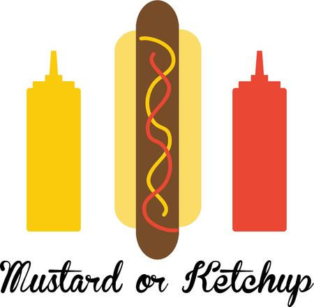 Use this hot dog for a ballpark shirt for a baseball fan.