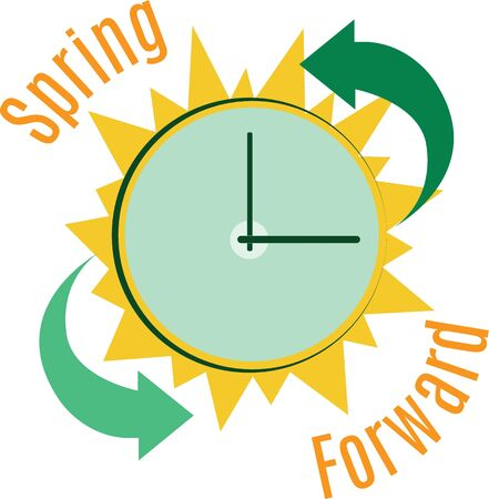 day light: Use this clock to advertise on a shirt Day Light Savings Time beginning and ending.