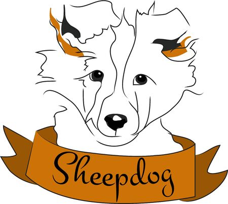 sheepdog: Dog lovers will love this design on a dog toy bag to bring to the dog park.