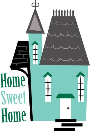 housewarming: This design makes a great gift for the housewarming party. Illustration