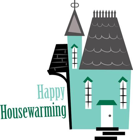 dwelling: This design makes a great gift for the housewarming party. Illustration