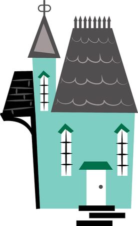 habitats: This design makes a great gift for the housewarming party. Illustration