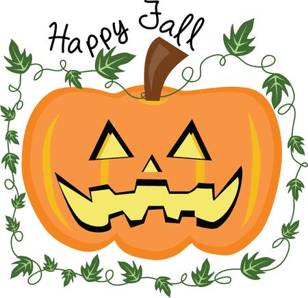 Use this cute pumpkin design for your fall decorations.