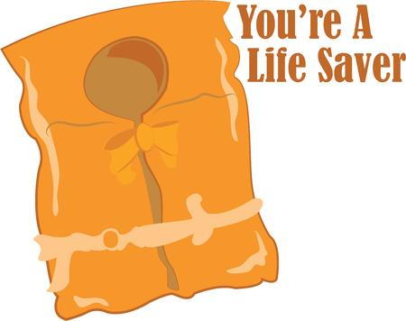 life jacket: Always remember a life jacket when playing near the water.