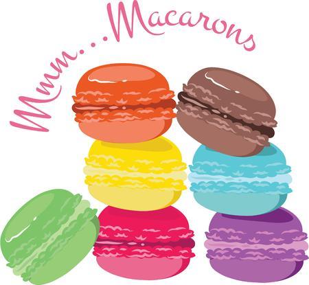 이 달콤한 마카롱으로 베이킹 사업을 광고하십시오.