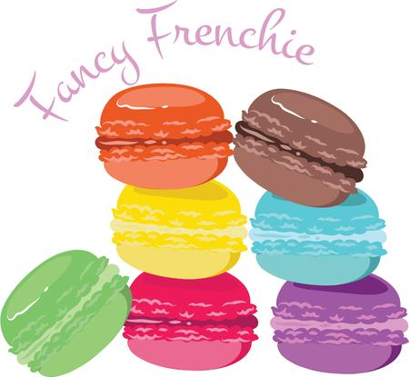 Advertise your baking business with these sweet looking macaroons.