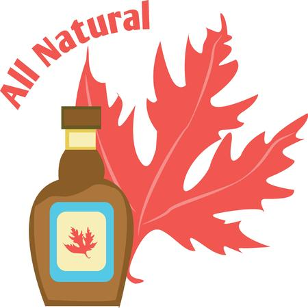 Yum!  All natural maple syrup.  Perfect on every table. Banco de Imagens - 42757126