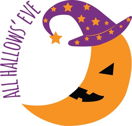 This cute design is perfect for a childs Halloween party.