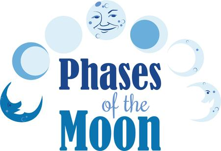 The Phases of the Moon put on a fantastic design on your t-shirt.