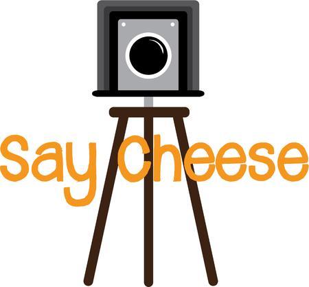 ポーズをとるまたはチーズを言う! このデザインは t シャツ、スウェット シャツ、トートバッグや、写真愛好家のための多くの素晴らしいです!  イラスト・ベクター素材